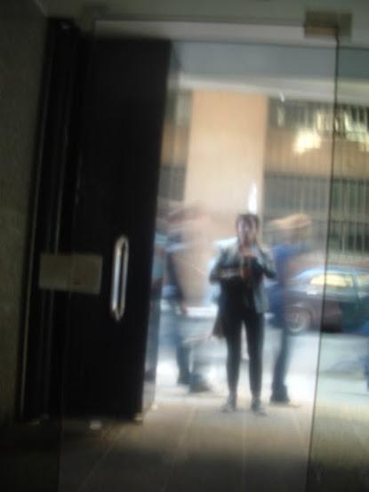 En camino al Teatro donde se organizaba todo