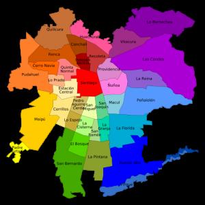 mapa de santiago de chile