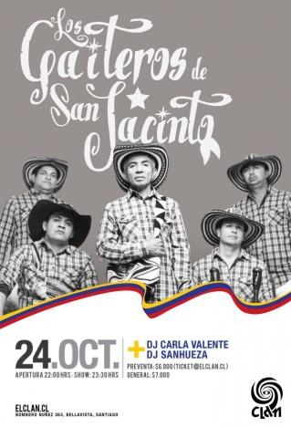 Afiche Gaiteros de San Jacinto, para Bar el Clan